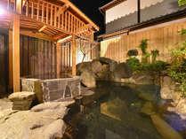 清遊亭「露天風呂」。非加熱・非加水、正真正銘の源泉100%掛け流し温泉です。