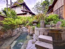 清遊亭「露天風呂(女性)」。天然温泉にゆったりつかって、旅の疲れを癒してください♪