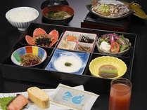 飛騨の食材を使用した和朝食