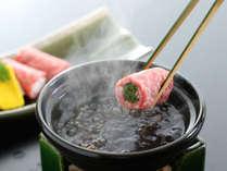 【讃岐牛】旬の野菜を讃岐牛で巻いた逸品。サッと出汁にくぐらせてお召し上がりください