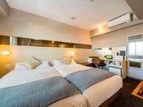 ハリウッドツイン ☆120cm幅のベッド2台のお部屋☆