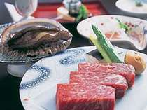 ※【選べる活あわび付スペシャル会席】なら国産牛ステーキとあわびの両方がお召し上がり頂けます!