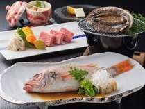 【のどぐろ&県産黒毛和牛&あわび】高級食材堪能!3大グルメプラン 菊萬デラックスコース