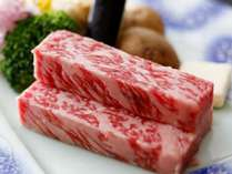 当館使用の鳥取県産黒毛和牛ステーキ