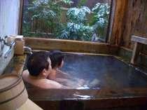 親子でゆ~ったりひのき風呂。