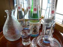 元天栄村の地酒と会津地方の地酒、5種類の中から3種類を夕食時に選んでいただきます!