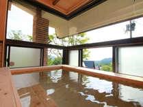 温泉から自慢の「高台からの風景」が望めます。窓を大きく取り露天風呂にも劣らない展望を叶えました♪