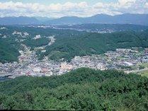 【大山展望台】大山展望台からの湯郷温泉。※車で10分