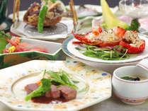 奈義牛、伊勢海老など贅沢に山海の幸をお楽しみいだたけます。≪2017春夏料理≫