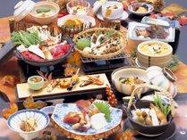 【松茸会席】秋ならではの味覚を楽しんでいだたけるお料理です。