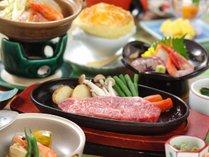 【ステーキ会席】ステーキをメインとしたボュームある会席料理です。