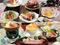 お二人で別々のお料理だから、お二人で色んな料理を分け合ってお楽しみいただけます。