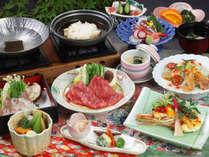 【夏会席】タコ、牛肉、そして贅沢にイセエビまで楽しめてこの価格♪