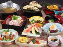 【つばき会席】冬の味わいと豚ちゃんこ鍋をお楽しみください。