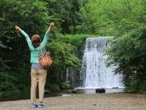 青々とした美しい自然に囲まれた「千ヶ滝」。当館より車で5分です♪