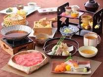 京野菜とA4ランク黒毛和牛すき焼き会席