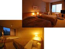 上)シングルベット2つタイプ/下)セミダブル+畳ベッド