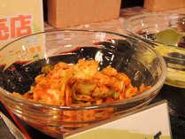 朝食にも南幌キャベツキムチをご提供しております。