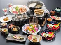 【夫婦膳】 別々のお食事内容を楽しむ事のできるふたりじめプラン。※写真は2名様分でございます。