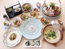 《冬》ふく会席(2食付)■ふぐ尽くし、冬の贅沢を、味わう――。