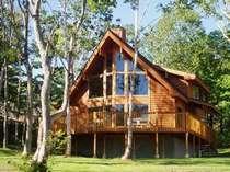 美しい緑の木々に囲まれて佇む別荘「シラカバ」
