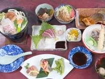 【グレードアップ夕食一例】お刺身のボリュームアップ