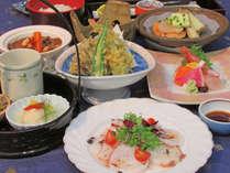 【夕食の一例】食材が持つ特性や効能を活かした釧路型薬膳料理をご提供しております