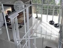 3階のベッドルームはリビングよりもさらに高い位置です。