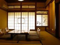 蒲(しょうぶ)がモチーフのお部屋。19部屋ある純和風の客室は、全て意匠が異なります。
