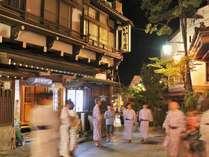 【いかり屋旅館前】渋温泉の中心にあり 外湯巡りに最適