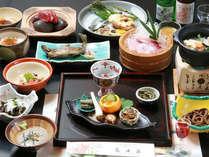 <お料理一例> 山菜・川魚などを中心とした「山里フルコース」