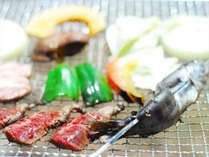 BBQプランには、オーナーが釣ってきたアマゴorニジマスがついてますよ!