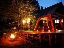 夜のテントはひと味違います♪