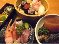 【1泊2食付プラン】 寿司・刺身・ぶり大根の「魚津三昧」と「朝食バイキング」付