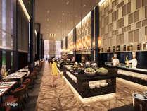 ホテル / ライブキッチンが魅力、240席のメインダイニング「グランドエール」