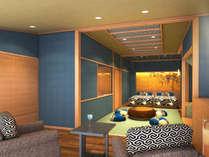 新館◆彩心-IROHA-和洋室◆和と洋の艶やかさに包まれた心地よい大人の空間