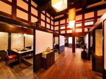完全個室お食事処にてお食事をお召し上がり頂けます。金沢の美味を心行くまでご堪能下さいませ