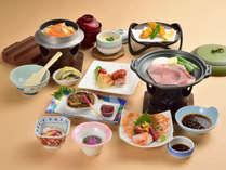 *【夕食一例/広瀬膳】地元の食材を使ったお食事に舌鼓。