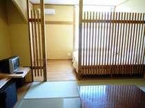 和洋室タイプの部屋になっております。