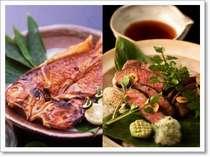 萩の山幸と三方を海に囲まれた海の幸の2大食材を贅沢に豪華にお楽しみいただきます