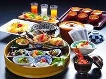 【朝食】和定食または洋定食をお選びください(和定食の一例)