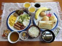 【無料朝食】バイキングセルフサービスです☆和食・洋食揃えております。日替わりメニューもございます☆