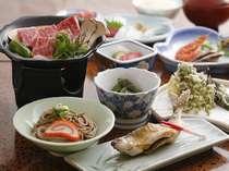 飛騨牛ステーキ付き 夕食(一例)