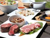 ◆【BBQプラン】手ぶらで気軽に☆森に囲まれながら道産のお肉とシェフオリジナル料理を満喫♪【夕朝食付】