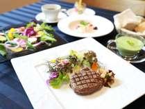 ◆道産牛ヒレ肉のポアレなど。ベーシックコース(一例)