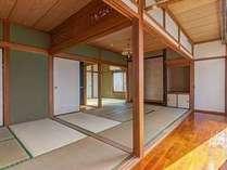 6畳2室と4畳半が1室の畳部屋があります