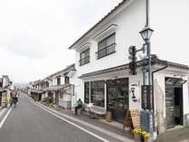 外観、国指定伝統的建造物群保存地区である日田市豆田町の町並み