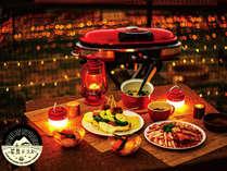 *食事一例/テラス1泊二食付きBBQプランになります♪星空に囲まれて優雅なひと時をお過ごしください。