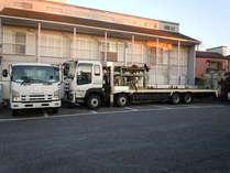 約5mとやく12mの大型車両もOK!(事前予約)無料