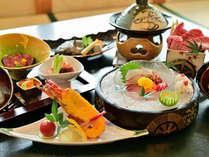 *〔グレードアップ〕板場が腕によりをかけたお食事、目にも舌にも美味しい食事をお楽しみください(一例)